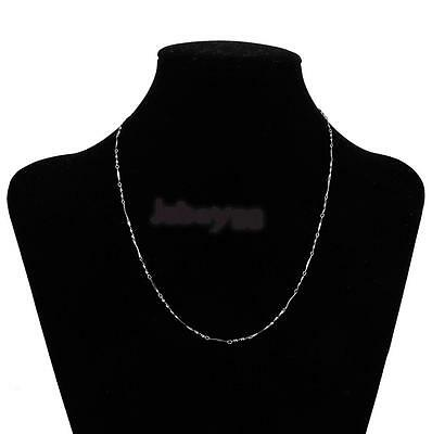 1mm Pure Solid .925 Sterling Silver Twist Chain Necklace Women's Fashion Jewelry