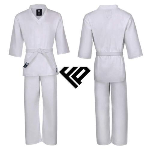 Adult Kid WTF Style Ribbed Taekwondo Polycotton Suit Dobok Martial Art Athletics