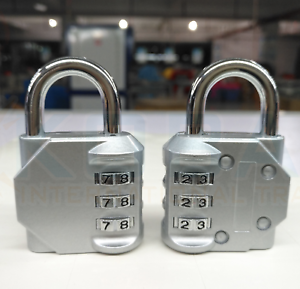 3-Digit-Combination-Pair-Padlock-Black-Number-Luggage-Travel-Code-Lock-UK-POST