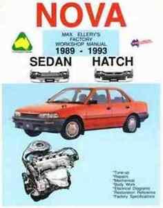 new workshop repair manual holden nova toyota corolla ebay rh ebay com au 1989 toyota corolla service manual 1989 Toyota Corolla Information