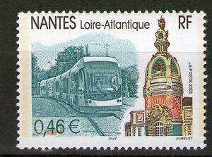 TIMBRES-3552-NEUF-XX-LUXE-NANTES-LE-TRAMWAY-ET-LA-TOUR-LU