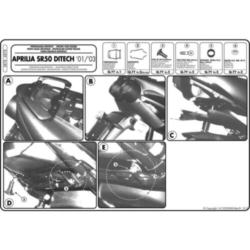 1997//2005 PORTAPACCHI APRILIA 50 SR DITECH RLB1