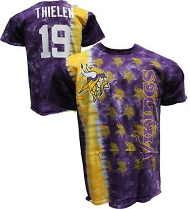 b3db94f16 Official MINNESOTA VIKINGS Tie Dye Vertical T-Shirt Adam Thielen WR ...