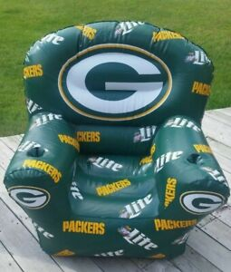 Astounding Details About Miller Beer Green Bay Packers Inflatable Lounge Chair Very Cool Never Used Evergreenethics Interior Chair Design Evergreenethicsorg