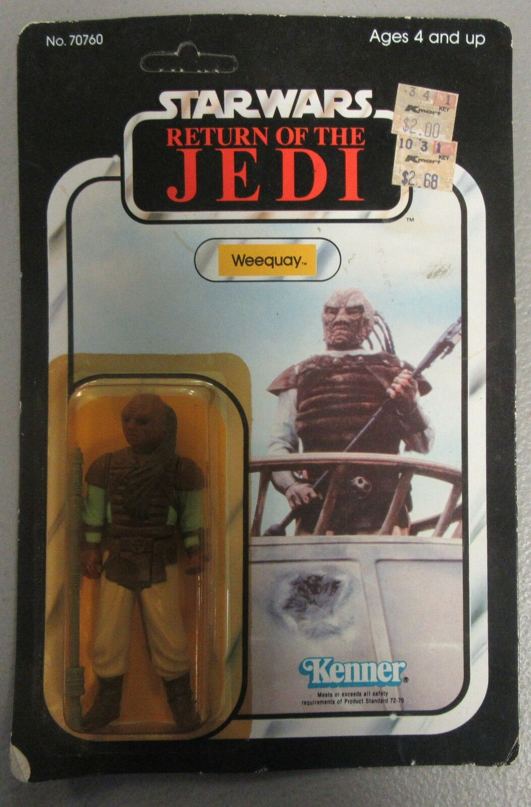 Star Wars Return of The The The Jedi Weequay SEALED UNPUNCHED Action Figure 1983 Kenner ddd89b
