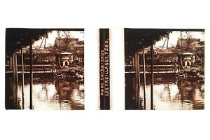 Giappone Japan Parc Shiba Placca Da Lente Stereo Vetro Stereoview Positivo