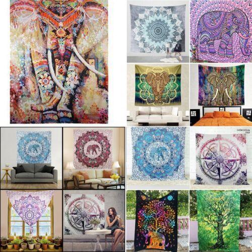 Boho Tapestry Wall Hanging Mandala Hippie Bedspread Throw Beach Yoga Towel Decor