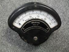 Vintage Weston Model 269 Amperes Dc Meter Untested