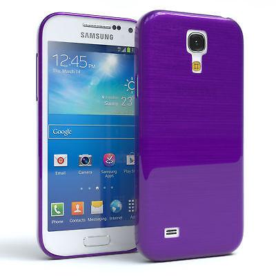 Schutz Hülle für Samsung Galaxy S4 Mini Brushed Cover Handy Case Lila