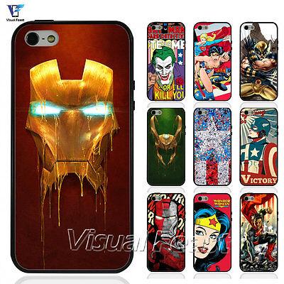 Hybrid Cover Comic Superhero Iron Spider man Hluk For Iphone & Samsung Case