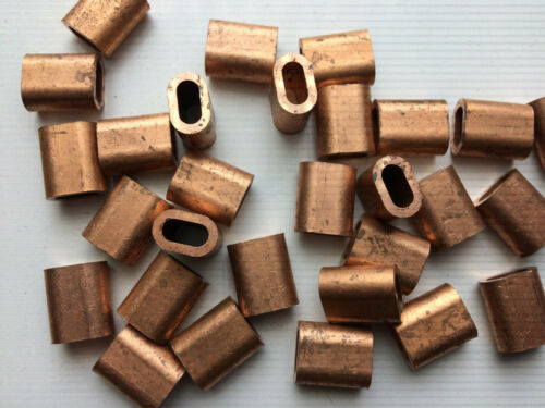 10x Copper Ferrules for 4.5mm Steel Wire Rope Stainless Rigging