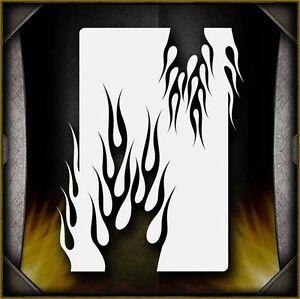 "/""Flames 3/"" Airbrush Stencil Template Airsick"