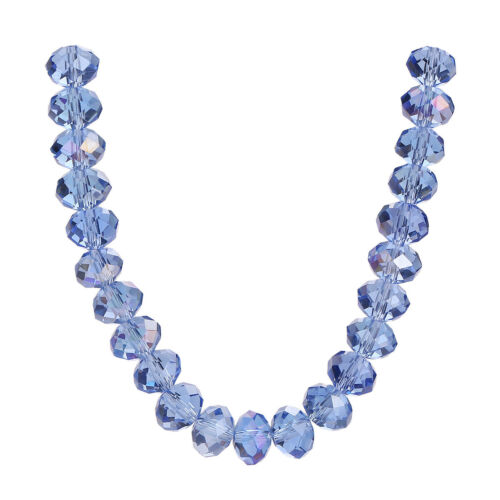 300Pcs 6mm Glass Crystal Faceted Rondelle Spacer Loose Beads DIY Jewelry Finding