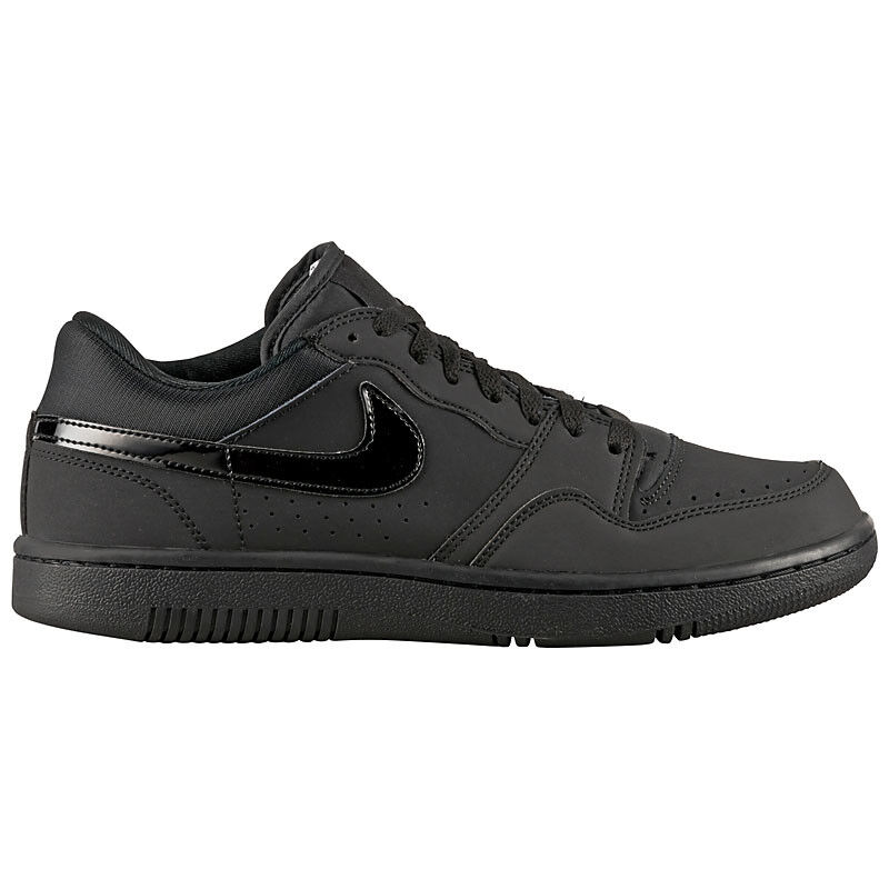 Nike Court Force Low Schwarz Leder Herren Sneaker Schuhe Turnschuh Retro air 1