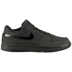 brand new 99da9 0639b Image is loading Nike-Court-Force-Low-Black-Leather-Men-039-