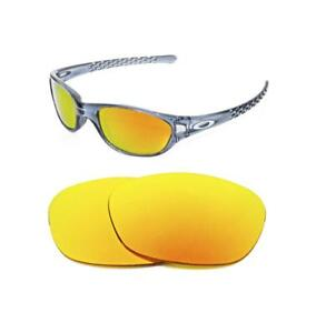 60fc201bb76 Image is loading NEW-POLARIZED-FIRE-RED-REPLACEMENT-LENS-FOR-OAKLEY-
