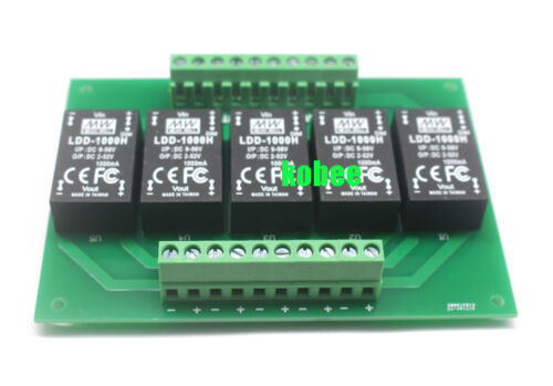1 Pieza 5UP Ldd-H MeanWell Controlador PCB para 350H 500H 700H 1000H 5 Canales