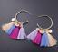 Elegant Women Bohemian Long Tassel Fringe Drop Dangle Ear Stud Earrings Jewelry