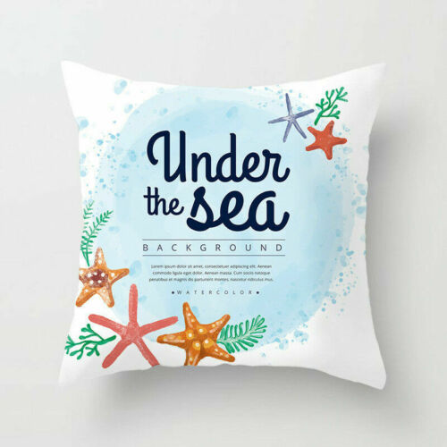 Cushion Decor Sofa Polyester 18 Pillow Cover Starfish Case Home Waist Throw
