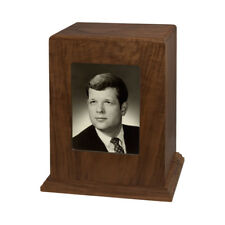 Wood Adult Cremation Urn (Wooden Urns) - Walnut Vertical Photo