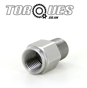1-8-034-NPT-Male-to-M10x1-0-Female-Stainless-Steel-Oil-Pressure-Gauge-Adapter