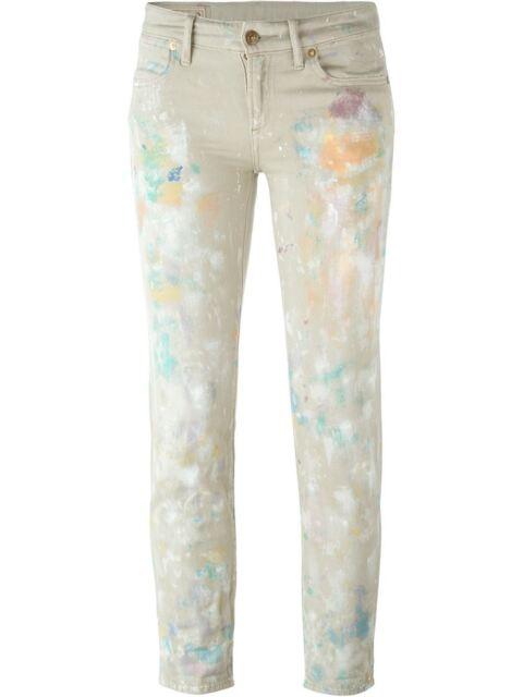 80f6734da9d3 Women s Ralph Lauren Polo Slim Astor Boyfriend Paint Splatter Jeans New  245