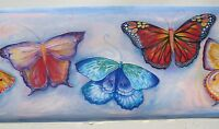 Blonder Home Accents Blue Pink Butterfly Wallpaper Border - 10976921414 Home Furnishings