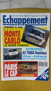 ECHAPPEMENT-n-279-Gennaio-1992-in-lingua-francese-Revue-du-sport-automobile