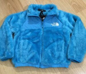 ae67e38eb canada light blue fuzzy north face jacket ce564 9613e