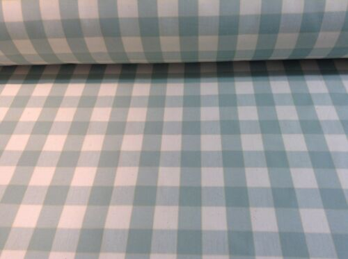 Barker /& Barker Yachting Check 140cm Mint Cotton Curtain Fabric