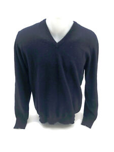 Details about Lyle and Scott Men's Sweater Navy 100% Cashmere Pullover Size Medium UK 40 S4