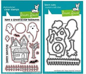 Lawn Fawn Photopolymer Clear Stamps-21ct + Dies HAPPY HAUNTING ~ LF375, LF966