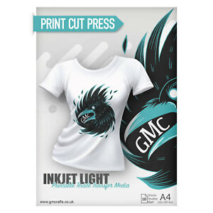 photograph regarding Printable Tshirt Transfers identified as Information and facts relating to 10 x A4 Printable HTV Iron Upon T Blouse Go PAPER - Inkjet Mild