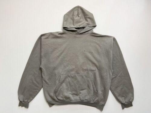 Vintage Champion Hoodie Black XL Sweatshirt Faded