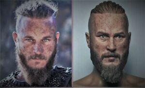 Tête personnalisée 1/6 Travis Fimmel Ragnar non peinte en résine ton chair opaque