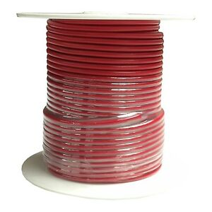14 Gauge | Red | Primary Wire | 100 feet | SAE J1128 GPT | Made in U.S.A.