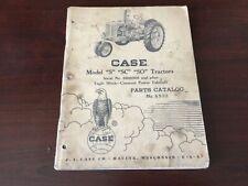 Case Model S Sc So Tractor Parts Catalog