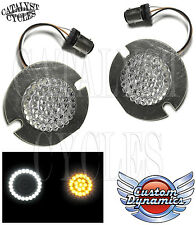 Custom Dynamics LED Dynamic Ringz 1157 Harley Turn Signals for Flat Style Lights