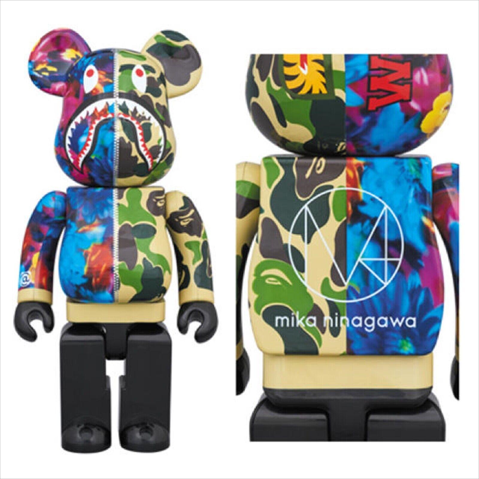 BE@RBRICK 400% 400% & 100% mika ninagawa SHARK Green Medicom Toy Figure
