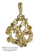 Gold Nugget Charm Pendant Ep 24k Gold Plated Jewelry With A Lifetime Guarantee