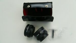 Lot-of-2-Lenmar-Telephoto-Lenses-with-Caps-Case-etc-6-pc-In-Mint-condition