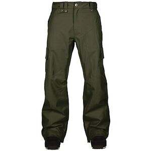 2015-NWT-MENS-BONFIRE-FELIX-SNOWBOARDING-PANTS-L-forest-green-tailored-fit