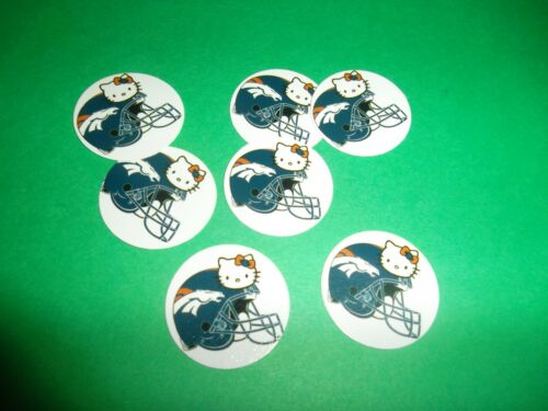 FREE SHIP Pre Cut One Inch HELLO KITTY BRONCHOS Bottle Cap Images