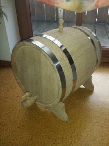 Weinfass Holzfass Eichenfass mit Holzhahn oder Messinghahn 20 l Liter
