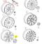 New-Genuine-AUDI-A4-S4-A6-S6-A8-S8-Set-Of-18-034-Wheel-Center-Hub-Caps-4Pcs miniature 5