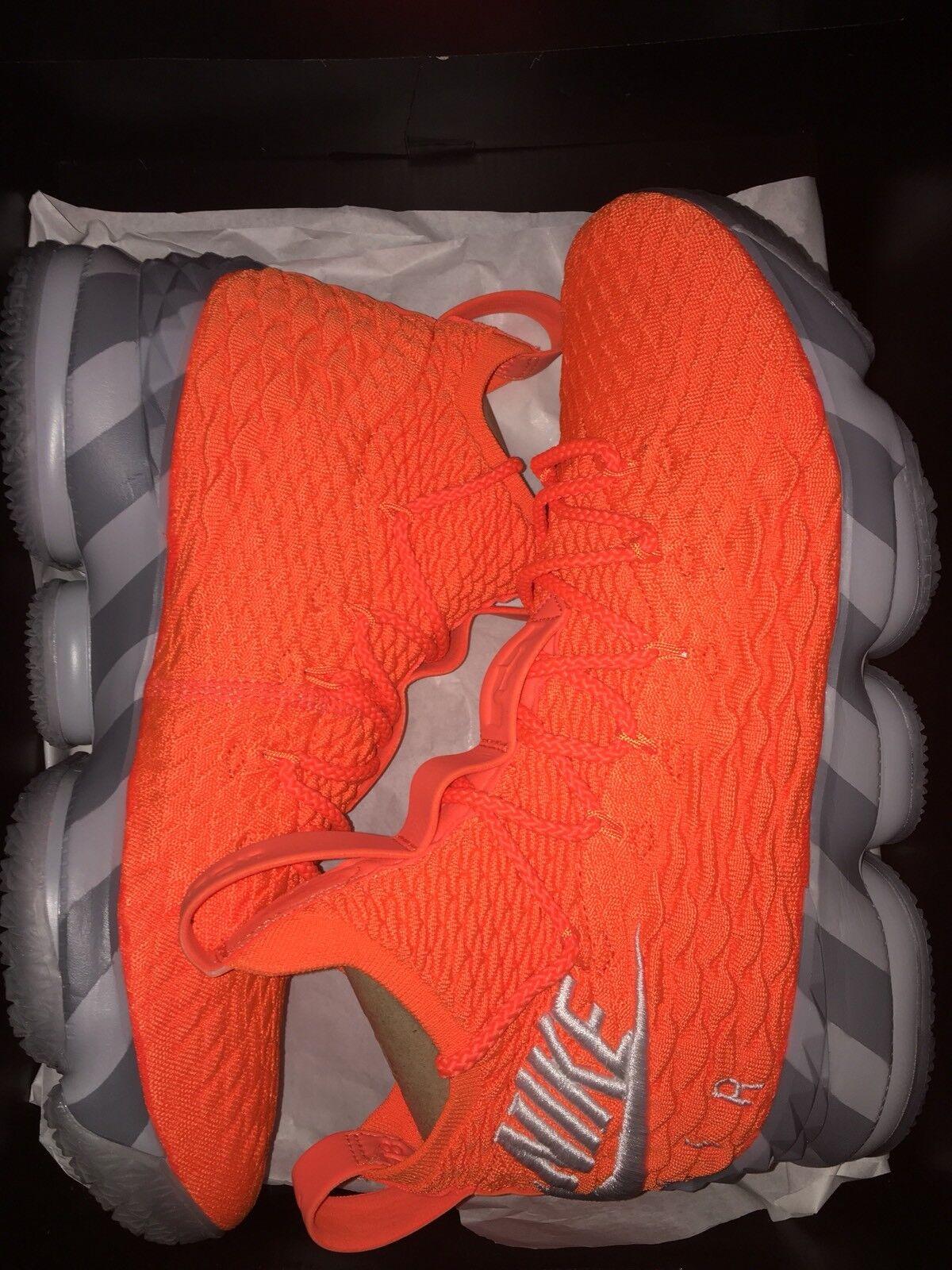 "Nike Lebron 15 ""Orange Box"" Size 10 SNKRS Exclusive"
