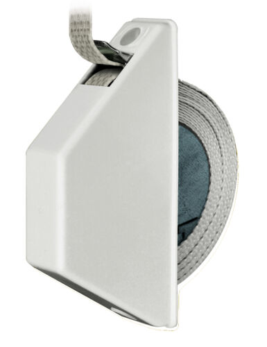 Schellenberg 50505 Halbeinlaßwickler Weiß System Mini 14mm Gurtbreite