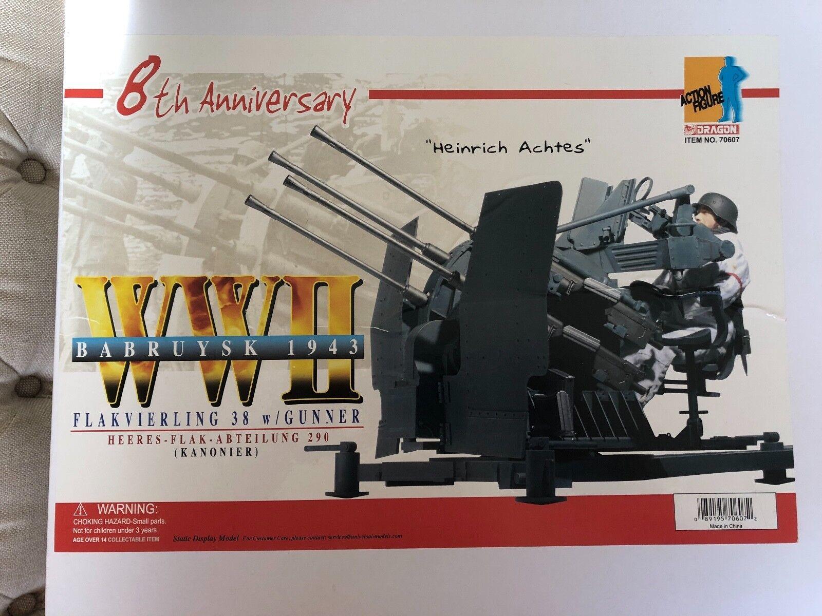 Dragon 8th aniversario Flakvierling 38 con artillero  Heinrich achtes  Babruysk 1943