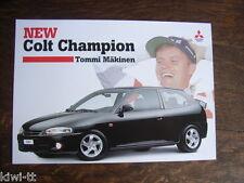 Mitsubishi Colt Champion Tommi Mäkinen Sondermodell, Prospekt, CH (D/F/I),3.2000