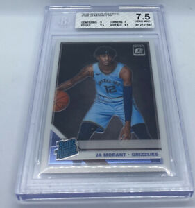 2019-20 Donruss Optic Basketball JA MORANT RC #168 BGS 7.5 NEAR MINT + Grizzlies